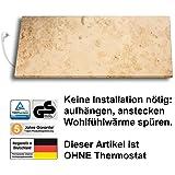 Marmony M800 Marmor Infrarot-Heizung aus Naturstein, Montagematerial, steckerfertige Wandheizung zum Aufhängen