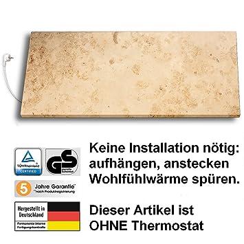 Marmony M800 Marmor Infrarot-Heizung aus Naturstein, Montagematerial ...