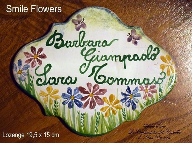 Targhette In Ceramica Per Porte.Targhe Numeri Civici Insegne Porta Ingresso Ceramica Realizzato E