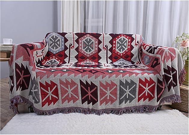 HTDirect - Manta de algodón de Doble Cara con borlas Decorativas ...