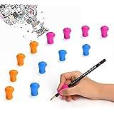 Shiney Pencil Grip Impugnature per matita Supporto ergonomico di scrittura per destri e mancini Silicone perfetto per migliorare la tecnica di scrittura e la comodità dei bambini