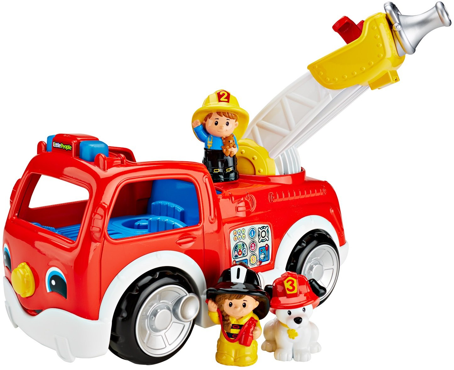 Mattel Fisher Price DNR Little People coche de bomberos