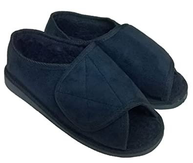 good selling best loved check out Extra Wide Slippers Mens Womens Open Toe Adjustable Orthopaedic Slippers  Size 3 to 12