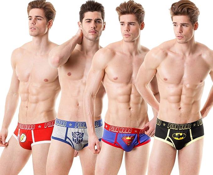 pinkhero Hombres de Marvel impresión Boxer Slip Ropa Interior ...