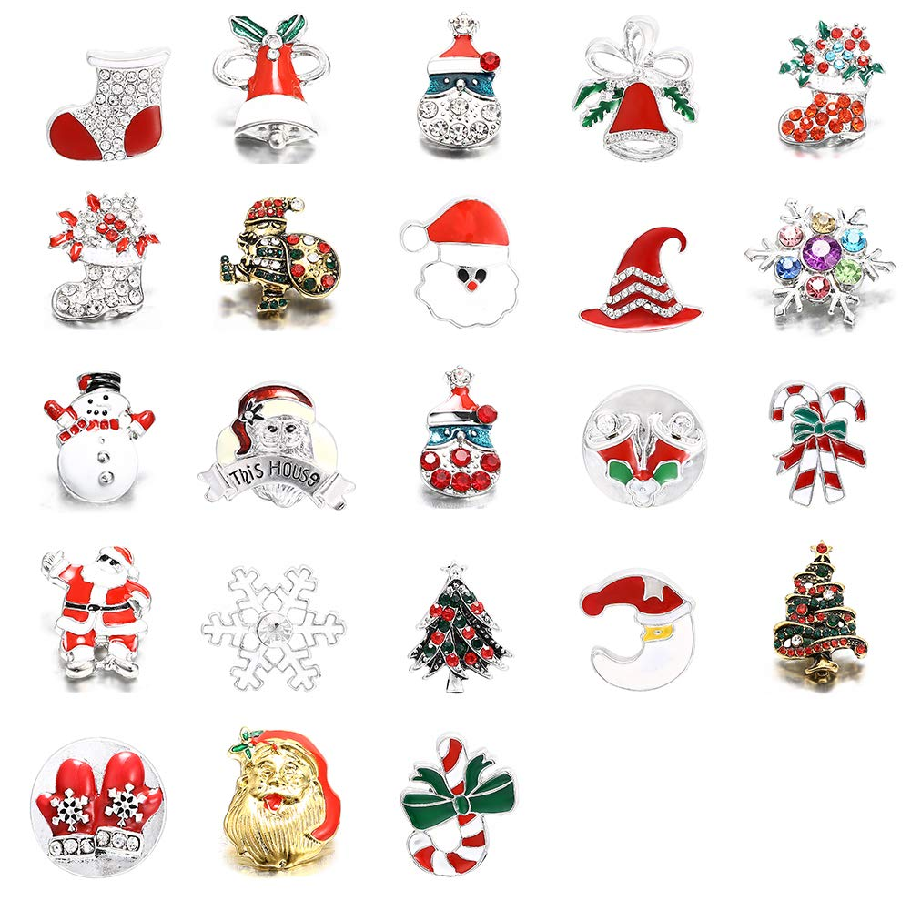 Souarts Random Mixed Christmas Snowman Tree Clip on Charm Pendants for...