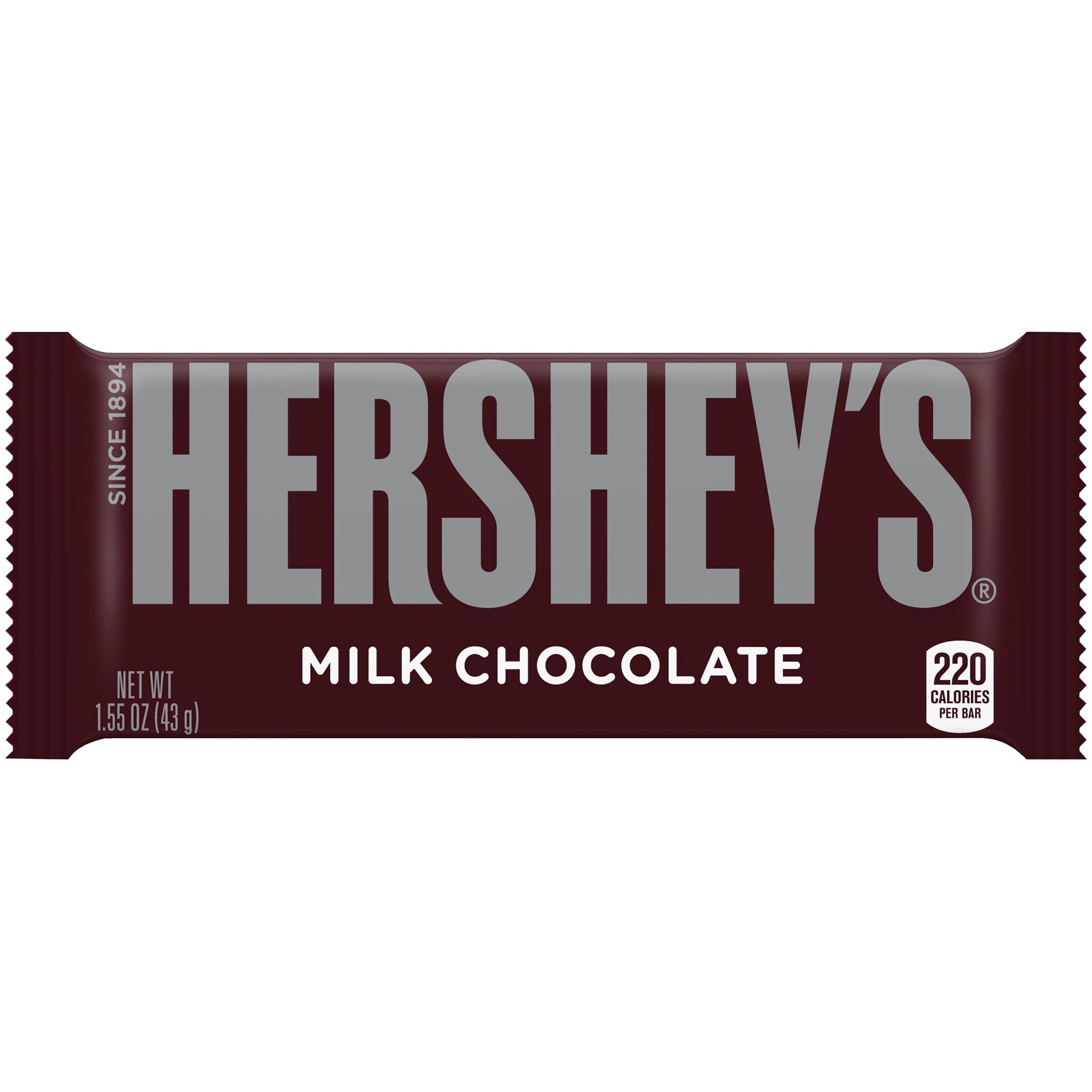 HERSHEY'S Milk Chocolate Bar, 1.55 oz