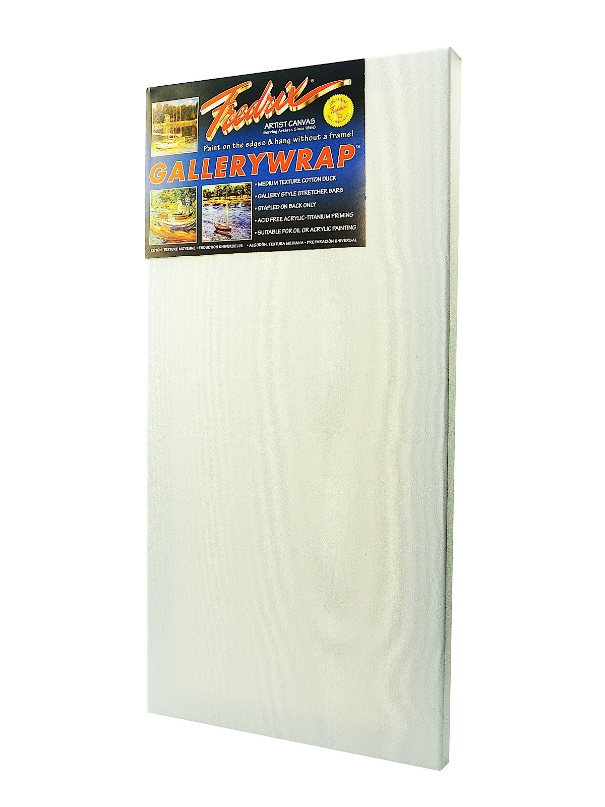 Fredrix 5091 Gallery Wrap Stretched Canvas, 24 by 48-Inch