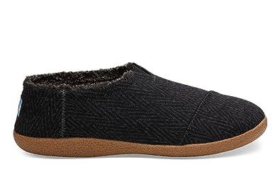 ef3e52378f6f Toms Slipper - Black Chevron Wool (UK11 EU45)  Amazon.co.uk  Shoes ...
