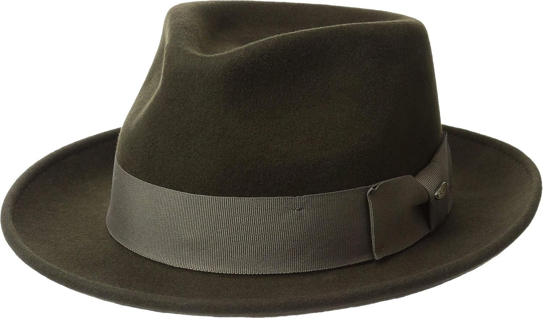 Scala Classico Men s Wool Felt Fedora with Grosgrain Hat 1417721bbb3