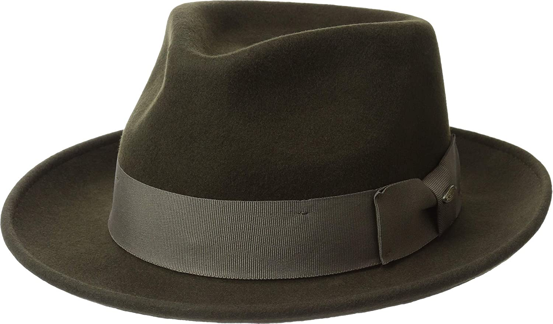Scala Classico Men s Wool Felt Fedora with Grosgrain Hat b5dfd14bcaac