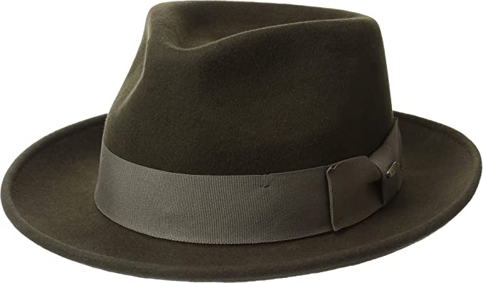 Image Unavailable. Image not available for. Color  Scala Classico Men s  Wool Felt Fedora ... e7e43af92c5