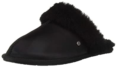 3ab4367b6 UGG - Scuffette II Satin 1096460 - Black  Amazon.co.uk  Shoes   Bags