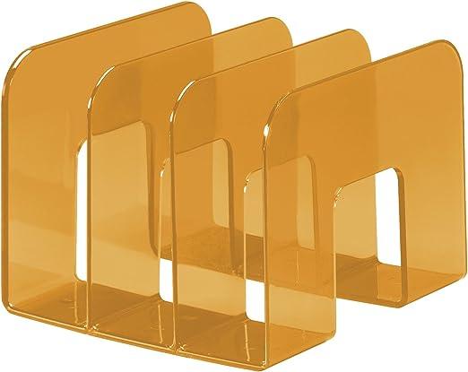 Durable 1701395992 Trend Porte-catalogues Trieur Documents Vertical 3 Compartiments Polystyr/ène Violet Translucide