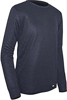 product image for Polarmax Unisex Child Double Base Layer Long Sleeve Crew Tee (Black, X-Small)