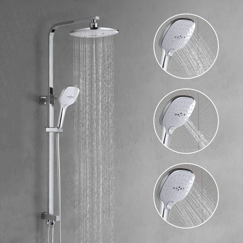 WOOHSE Set de ducha sin grifo, diseño moderno, sistema de ducha ...
