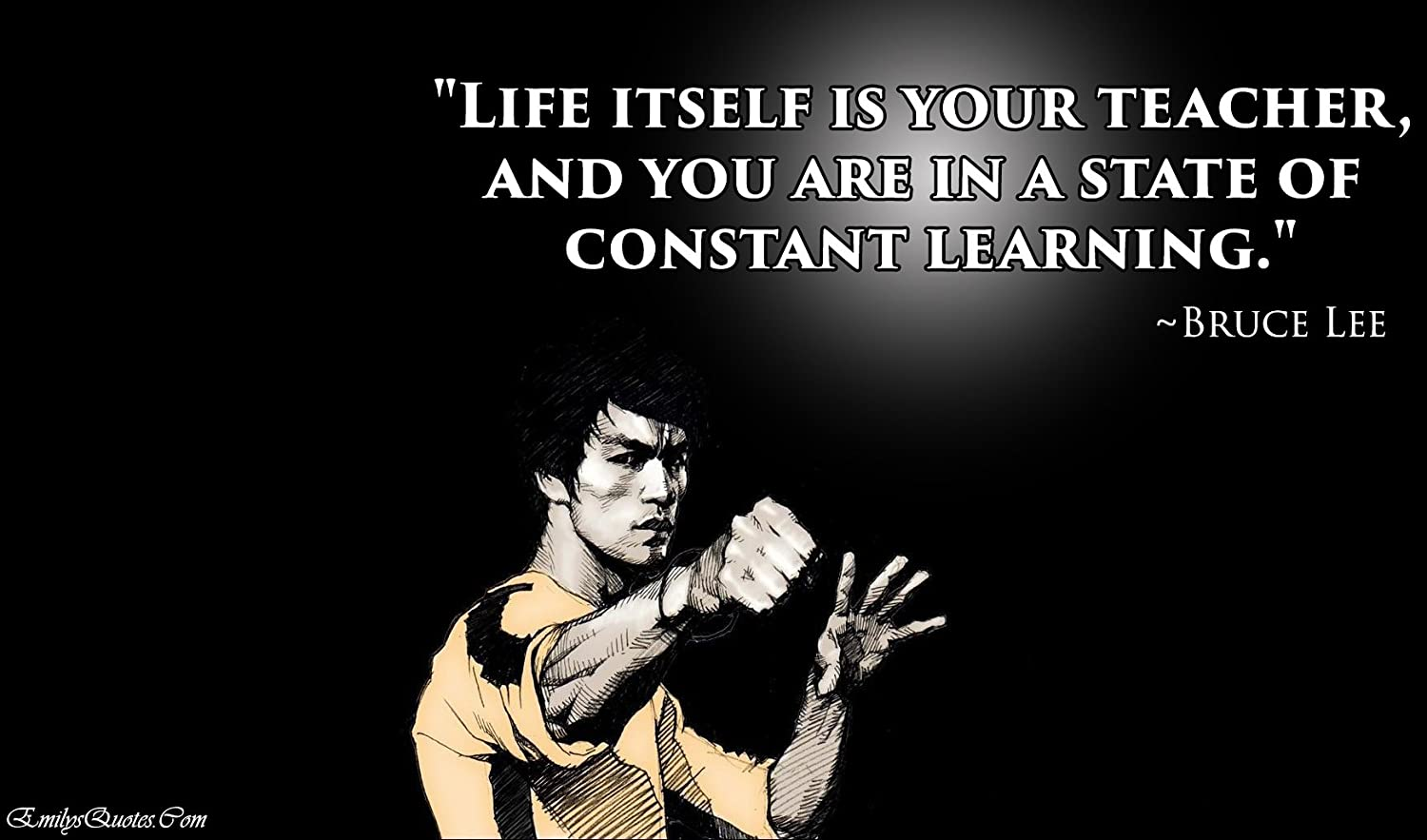 Amazon Com Life Itself Is Your Teacher Bruce Lee Quotes Poster