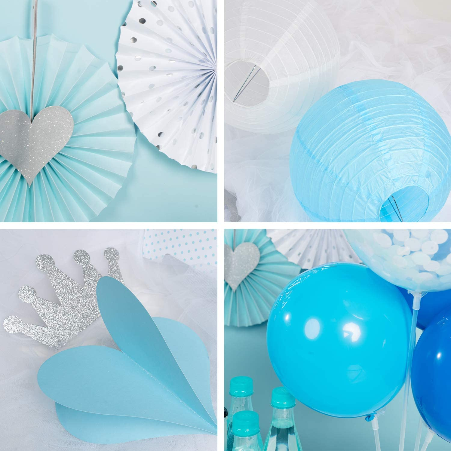 Baby Shower Decorations for Boy It/'s a Boy Baby Shower Blue Baby Shower Decor for Boy Party Supplies Set for Kids 52PCS