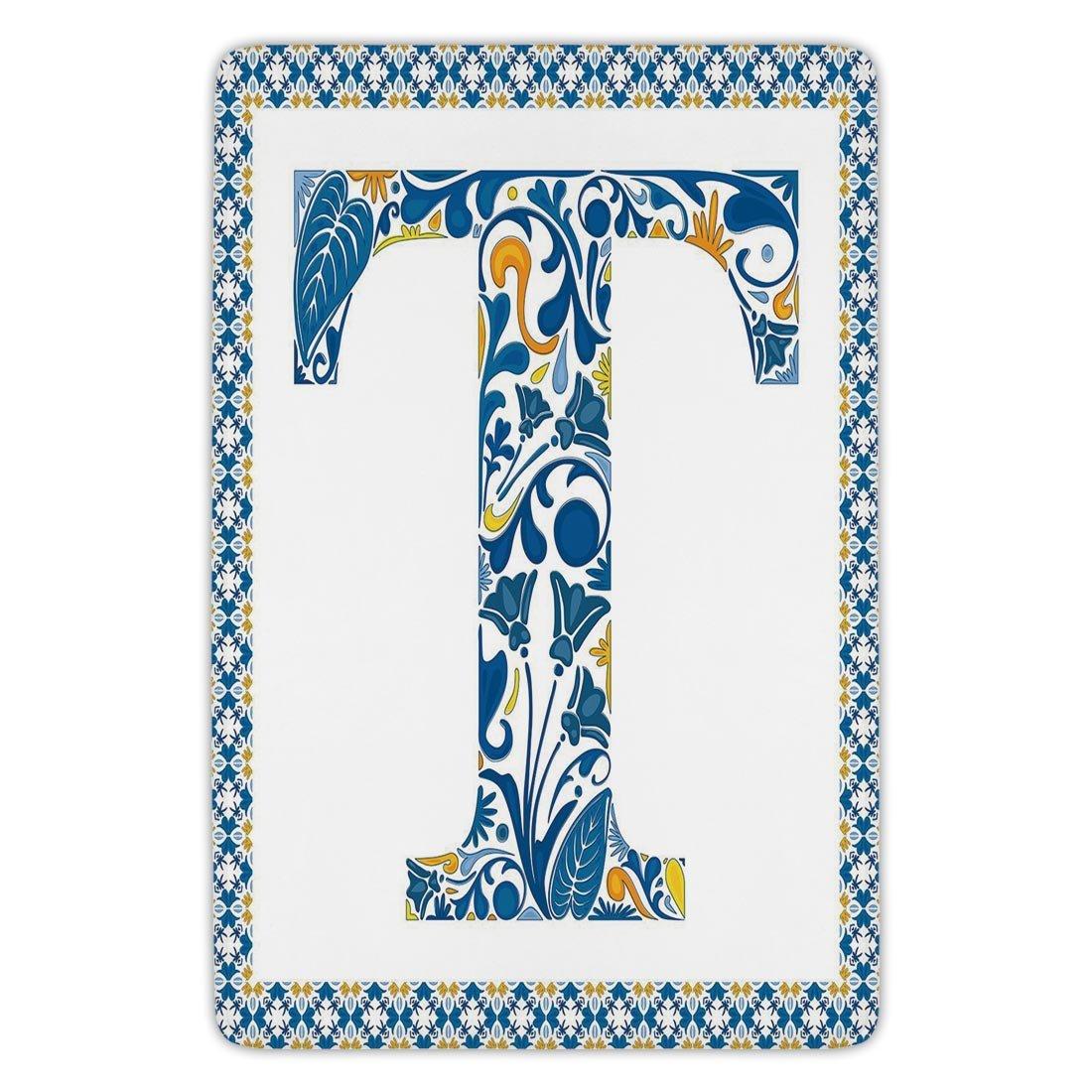 Amazon.com: Bathroom Bath Rug Kitchen Floor Mat Carpet,Letter T ...