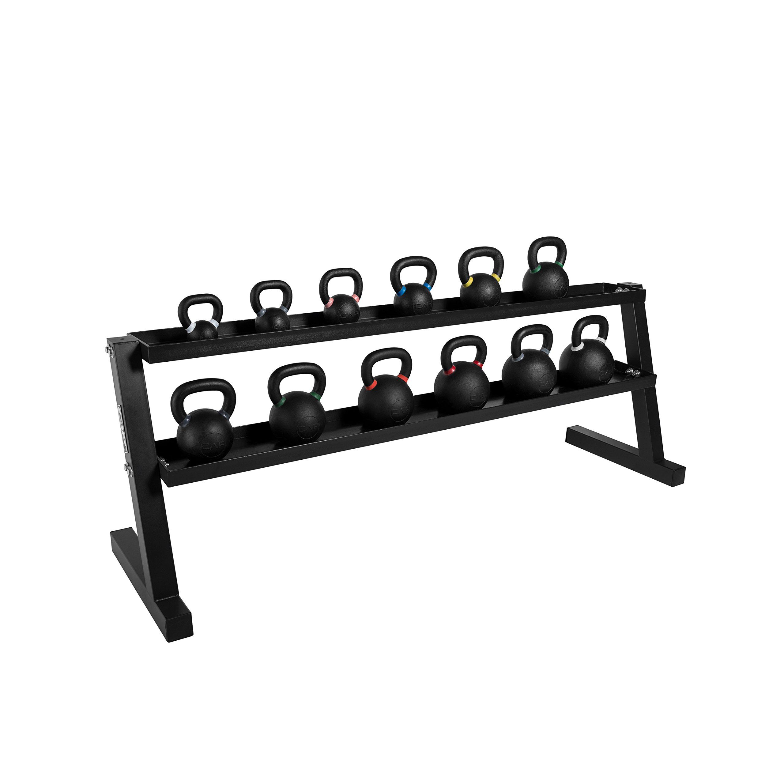 CAP Barbell Kettlebell Set with Storage Rack (498 Lb Competition Kettlebell Set with 86'' Storage Rack)