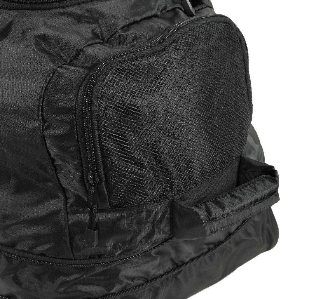 JB Ultralight XL120L Expanding Foldaway Rolling Duffle Holdall on Wheels in Black