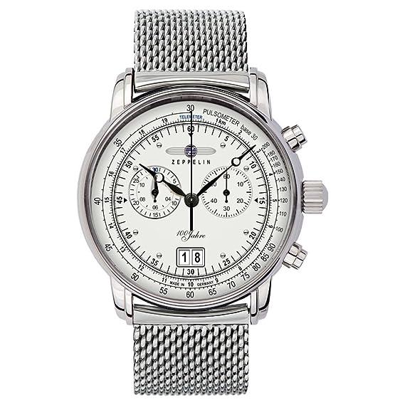 Zeppelin Watches - Reloj analógico de cuarzo para hombre con correa de acero inoxidable: Amazon.es: Relojes