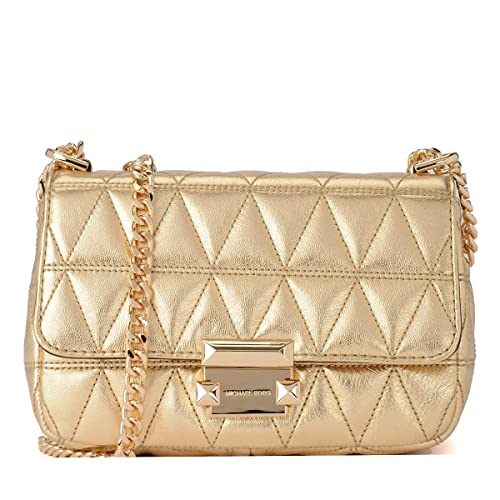 5bd960ef3e5 Michael Kors Small Sloan II Old Gold Quilted Leather Cross-Body Bag Gold  Leather  Amazon.co.uk  Shoes   Bags
