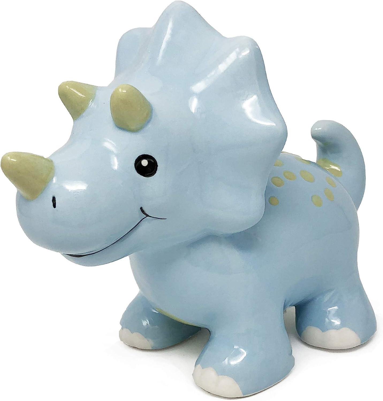 Hapinest Ceramic Dinosaur Piggy Bank for Boys, Triceratops