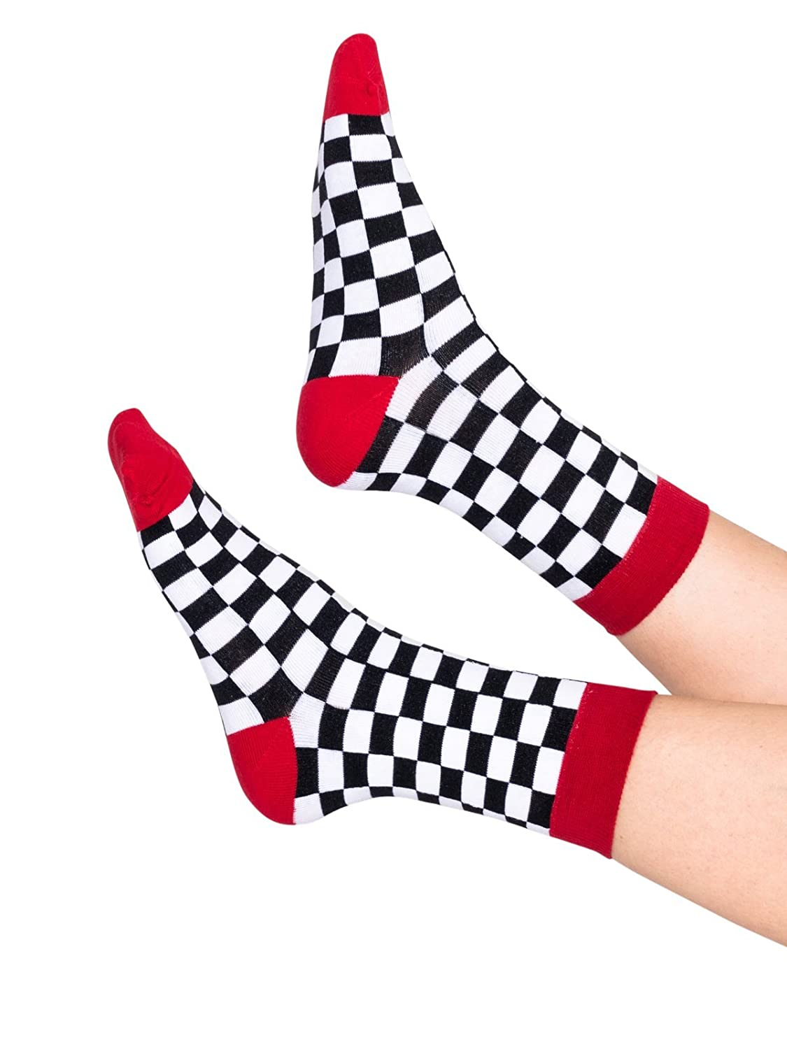 2a1a936d67cd5 Amazon.com: Red Checkered Socks Ankle Sock Tumblr Hipster ...