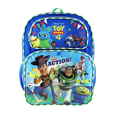"""Disney Toy Story 4 Kids Backpack 16"""" Large Bag- Taking Action-17091: Computers & Accessories"""