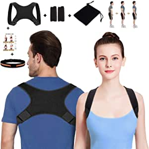 SETH - Posture Corrector for Men and Women-Back Stretcher Upper Back Brace Clavicle Support Device for Thoracic Kyphosis and Shoulder-Neck Pain Relief-Adjustable Brace-Posture Support - FDA Approved