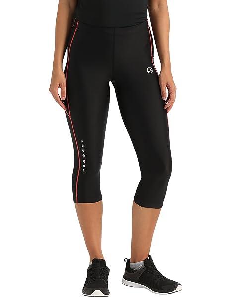 dbf54835a4 Ultrasport Pantalones pirata de correr para mujer con efecto de compresión  y función de secado rápido  Amazon.es  Deportes y aire libre