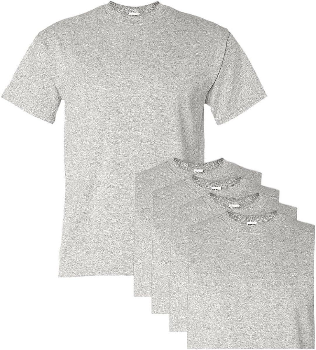 Gildan Adult DryBlend Sports T-Shirt, Ash, L (Pack of 5)