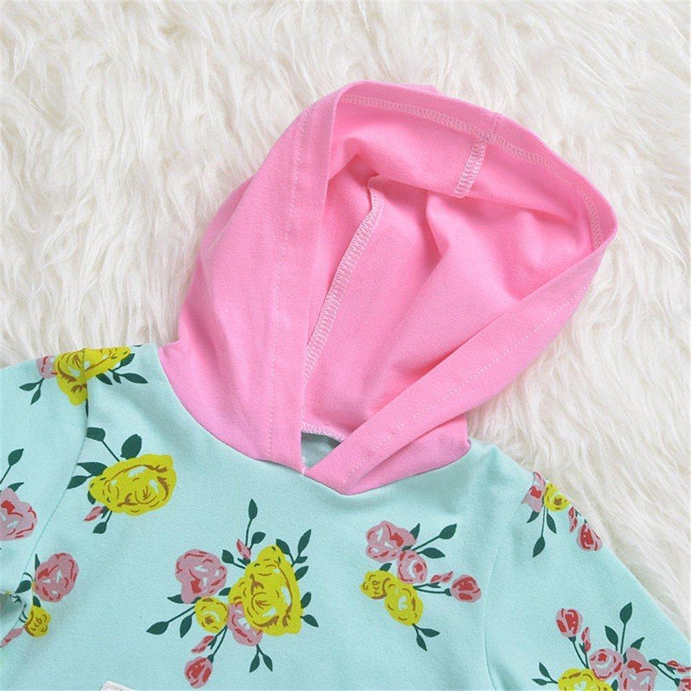 QTONGZHUANG Ropa de niños Wear_Explosion Otoño de los niños niños los Conjunto Floral, 90cm 818b58