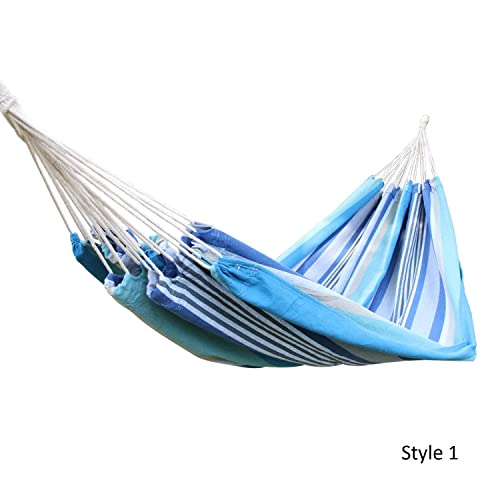 Joveco Cotton Fabric Canvas Hammock Tree Swing Hanging Swing Suspended Bed