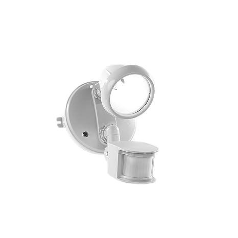 Foco para exterior con detector de presencia y luz, bombilla G9 incluida