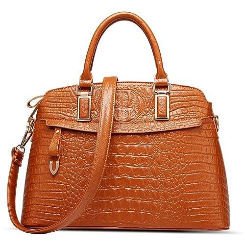 Luckywe Mujer carteras bolsos cuero Satchel diseñador PU suave bolsa A63 Multicolor1: Amazon.es: Zapatos y complementos