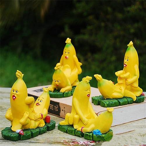 TBW 4pcs Banana Man Sexy Statue Sculpture Lover Wedding Figurine Sculpture