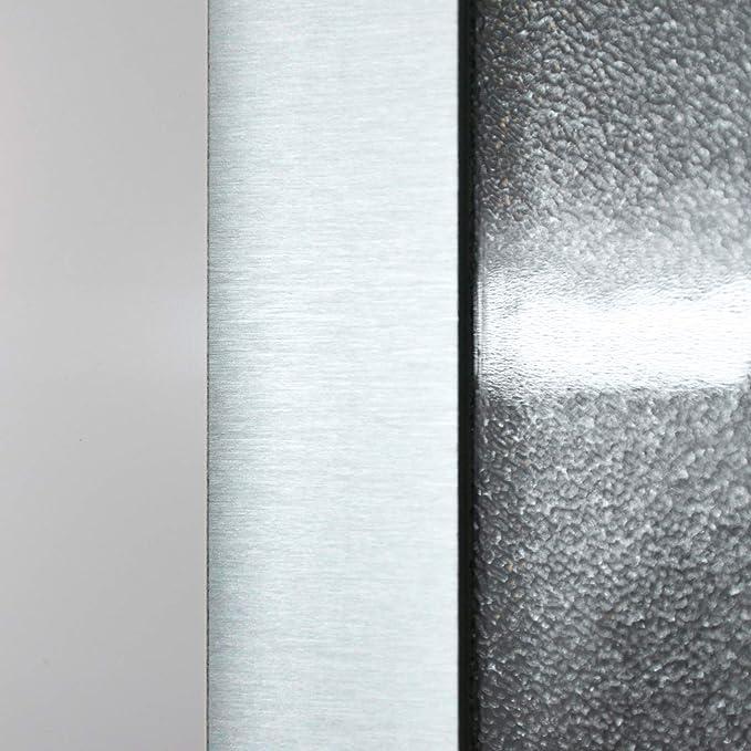 HORI/® Haust/ür Monaco I Kunststoff Haust/üre mit Glaseinsatz I Farbe Wei/ß I Gr/ö/ße 1980 x 980 mm