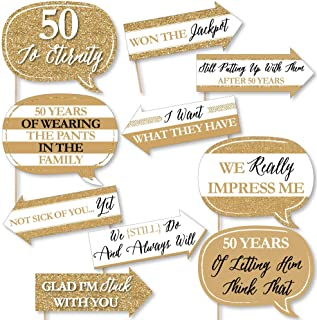 product image for Funny We Still Do - 50th Wedding Anniversary - Anniversary Party Photo Booth Props Kit - 10 Piece