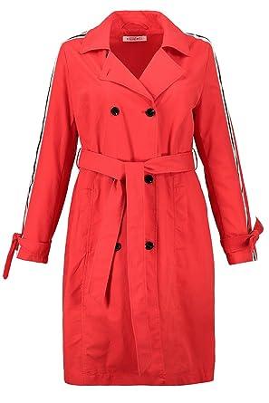 7df9d610a4e5d Studio Untold Women s Plus Size Contrast Striped Trench Coat 718628  Studio  Untold  Amazon.co.uk  Clothing