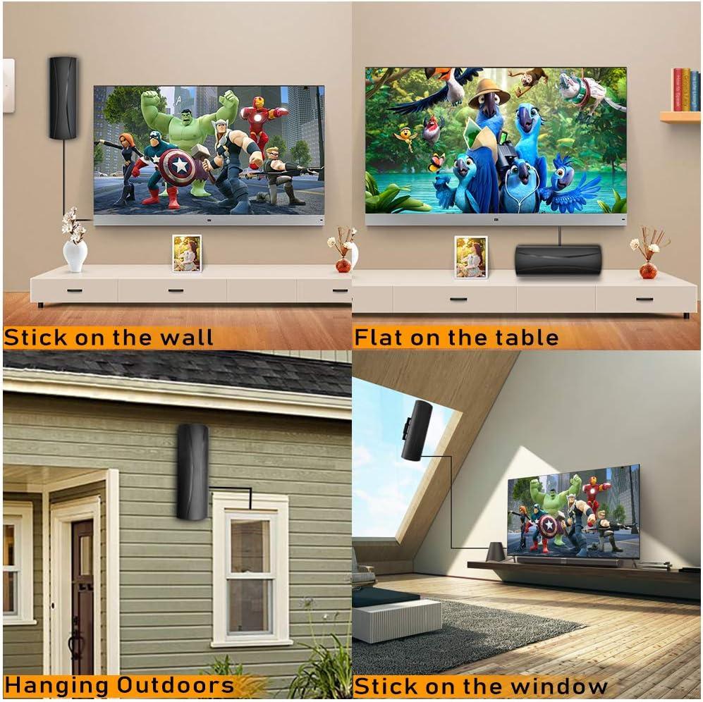 2020 Antena de TV para exterior/interior, rango de 150 millas ...