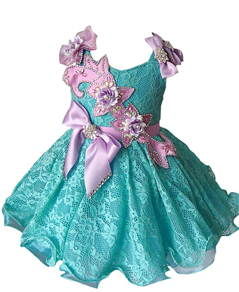 dc163c5a92f Amazon.com  M RAC Toddlers Girls Lace Princess Tutu Pageant Cupcake Dress   Clothing