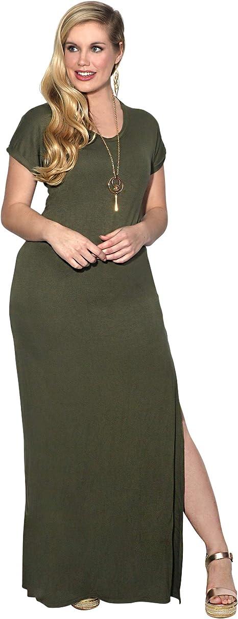 KRISP Vestido Mujer Tallas Grandes Largo Casual Ibicenco De D/ía Ropa Hippie Online Ofertas