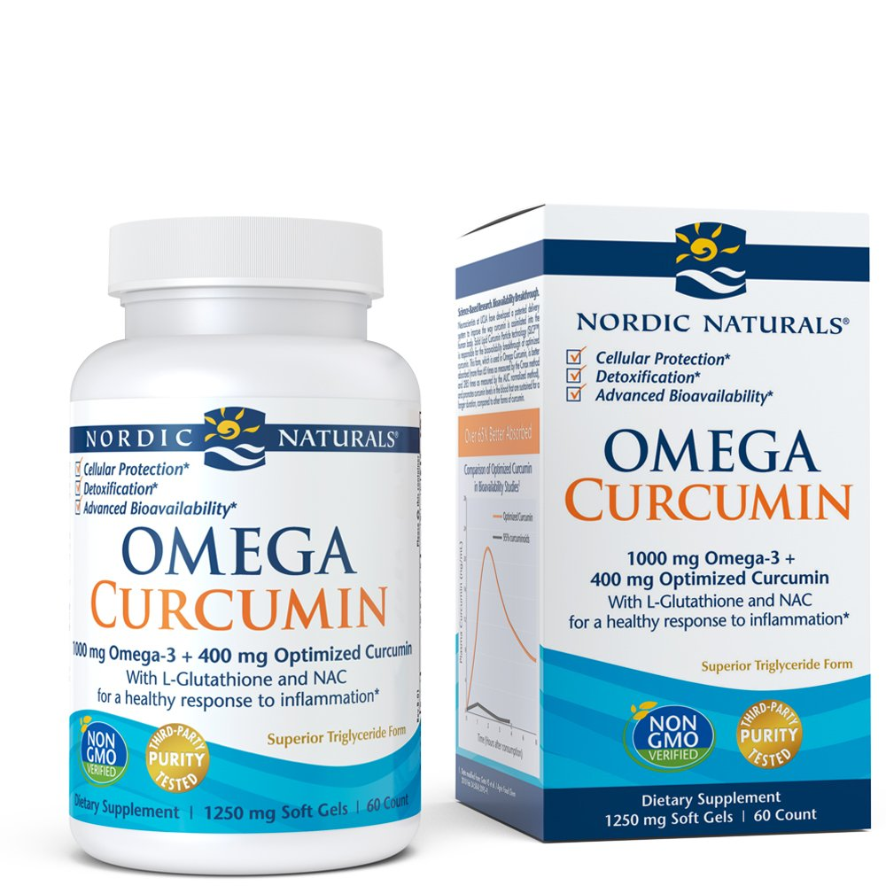 Nordic Naturals Omega Curcumin - Cellular Level Protection, Antioxidant and Anti-Inflammatory, 60 Count by Nordic Naturals