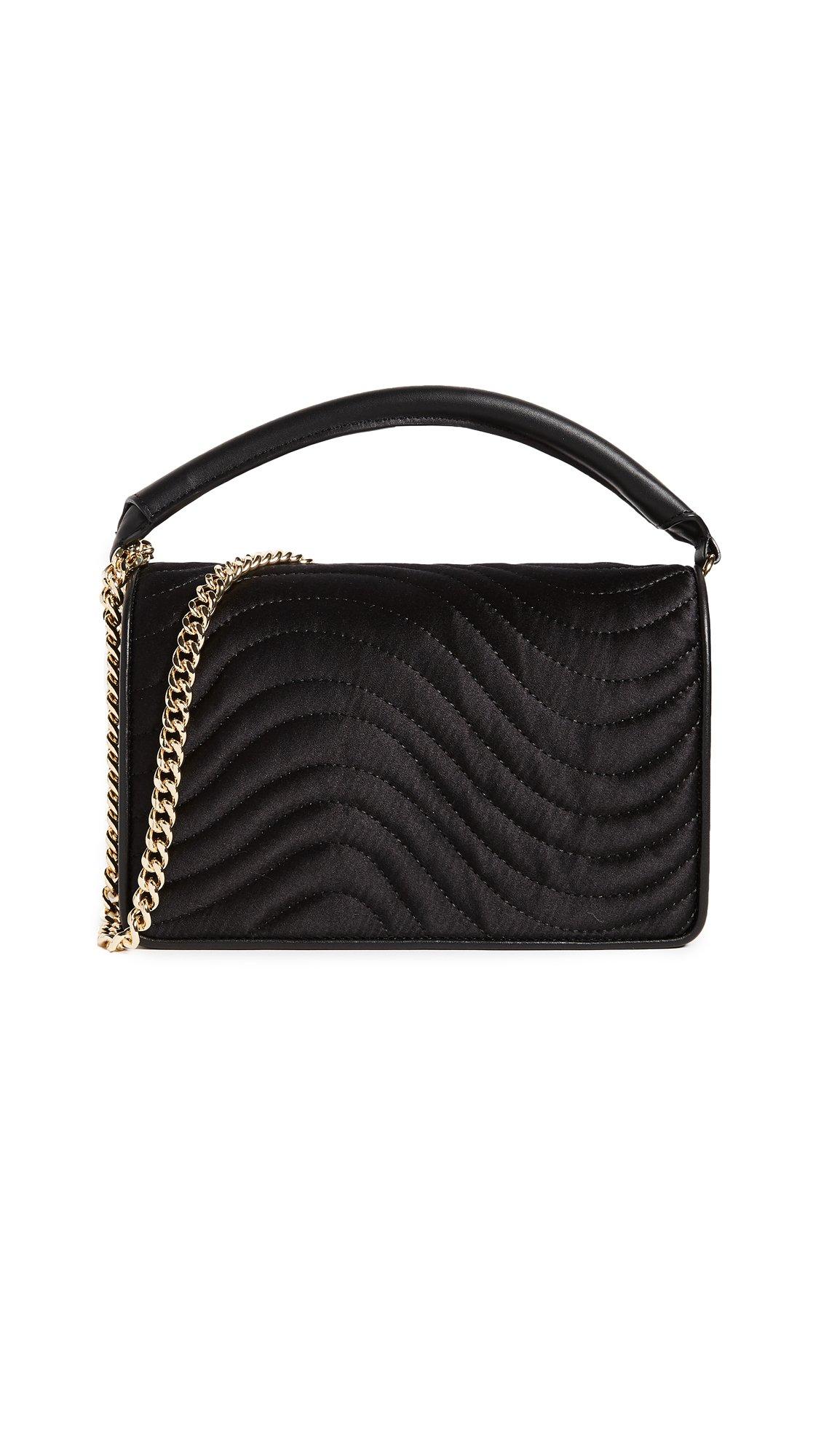 Diane von Furstenberg Women's Soiree Top Handle Bag, Black, One Size