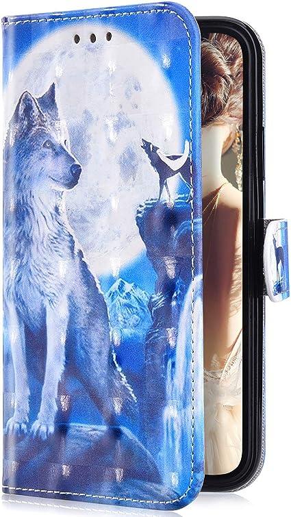 Uposao Compatibile con iPhone 7 Plus/8 Plus Custodia Portafoglio Protettivo per Cellulare Custodia Bookstyle 3D Dipinto Design per Telefono Cover in ...