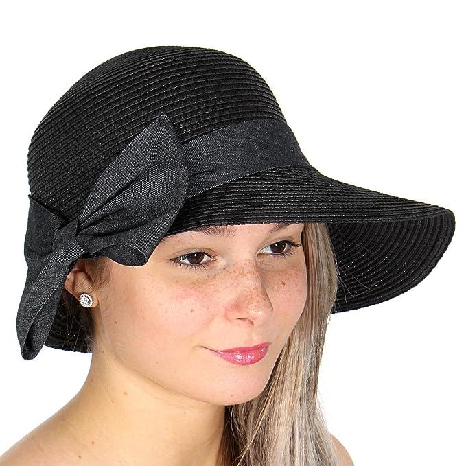 Straw Cloche Summer Beach Sun Hat 5a1569ab3677