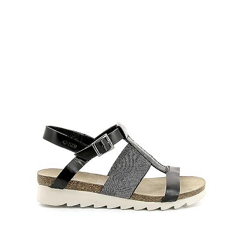 0227acea494 La Redoute - Sandalias de Vestir de Piel para Mujer Negro Negro  Amazon.es   Zapatos y complementos