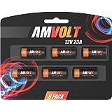 6 Pack of A23 Battery 12V [Ultra Power] Alkaline 12 Volt Batteries for Garage Doors Opener - Keyless Entry - Doorbells and Alarm Car Remote - MN21 GP23AE Best Industrial Battery