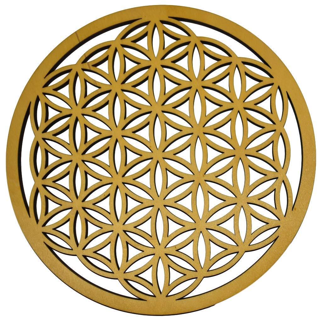 Blume des Lebens aus Birkenholz zum aufstellen verschiedene Durchmesser NEU